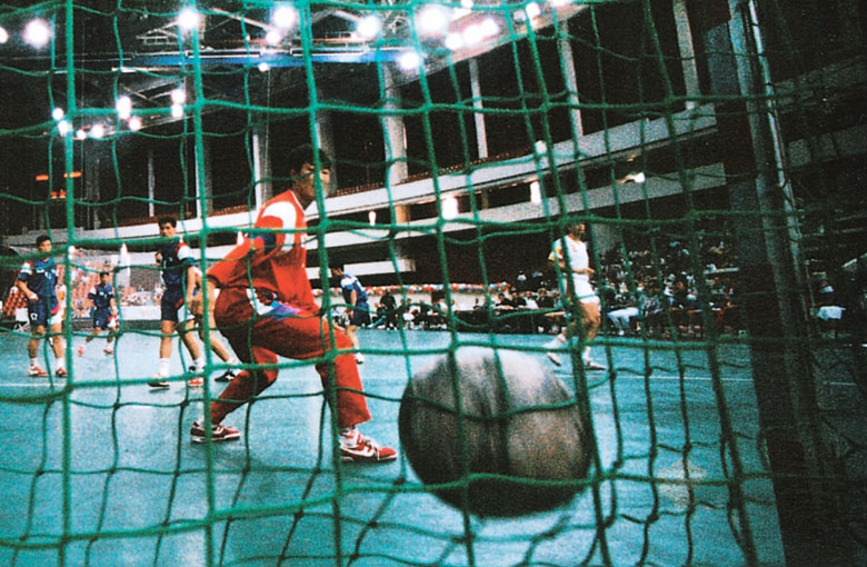 Ball stop nets for handball goals