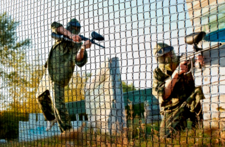 Paintball screen nets