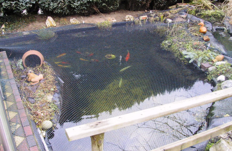 Garden pond cover nets Netten